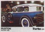 Вкладыш TURBO №226:RUXTON SALOON 1930