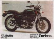 Вкладыш TURBO №234:YAMAHA SRV 250