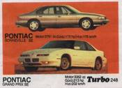 Вкладыш TURBO №248:PONTIAC GRAND PRIX SE